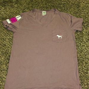 VS PINK purple v neck shirt